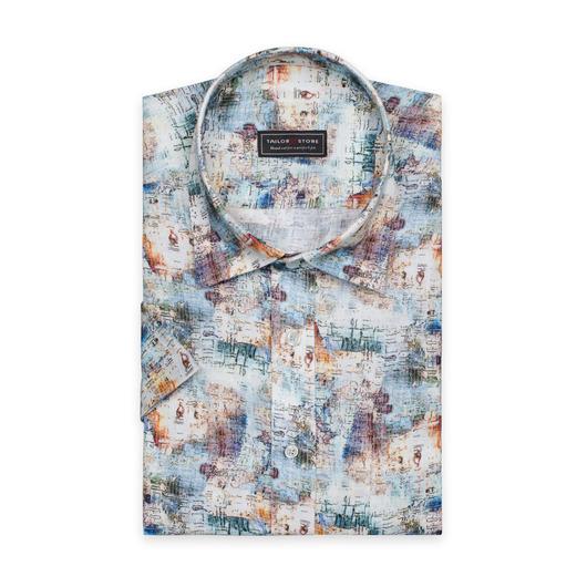 Mönstrad linneskjorta