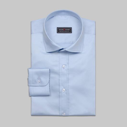 Affärsskjorta i fin ljusblå satin