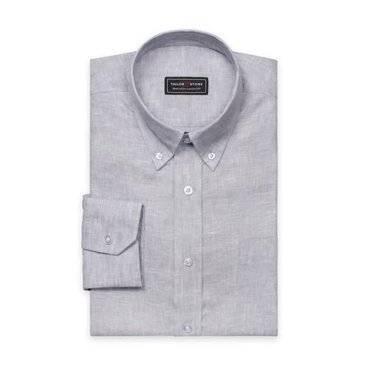 Lichtgrijs linnen overhemd