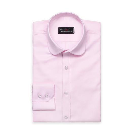 Chemise rose en twill et un col club