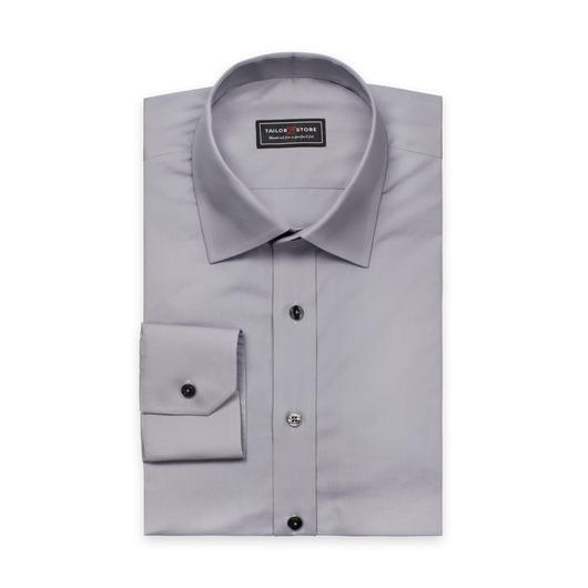 Graues Poplin-Hemd