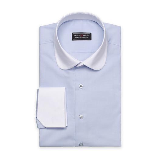 Oxford-skjorte med hvit krage
