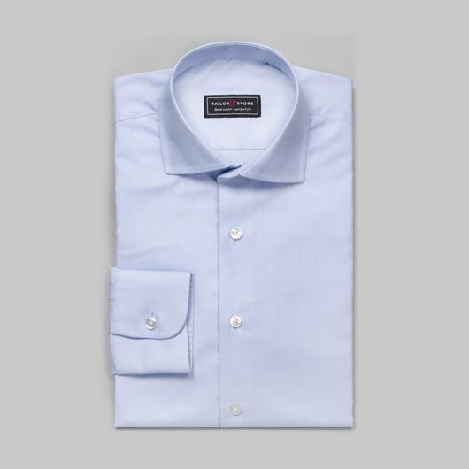 Lichtblauw oxford overhemd