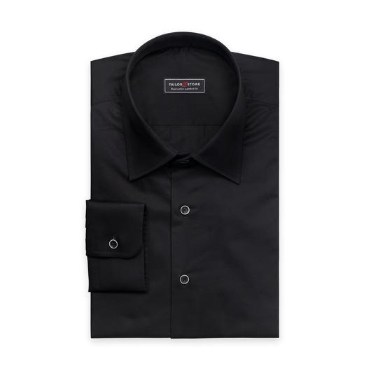 Stilvolles, schwarzes Twill-Hemd