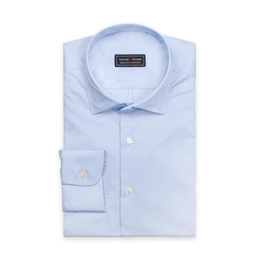 Lyseblå skjorte med cut-away casual-krage