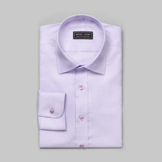 Ljuslila herringboneskjorta