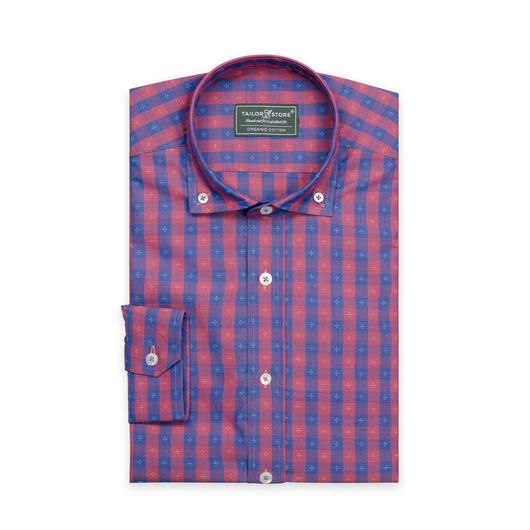 Chemise à carreaux en coton Bio Bleu/Rouge