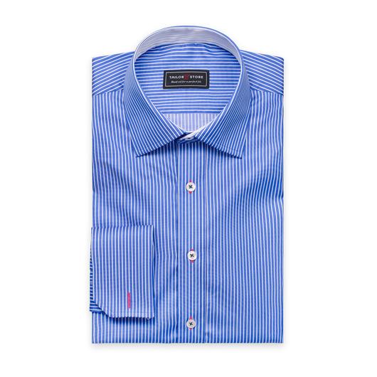 Vit/Blårandig skjorta