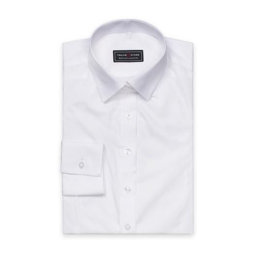 Hvid poplin skjorte